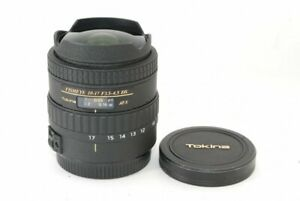 Tokina AT-X DX FishEye 10-17mm F/3.5-4.5 for Canon Very Good!! from Japan21981