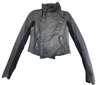 Rick Owens Classic Lambskin Black Leather Biker Jacket Size IT 42 / US 8 Womens