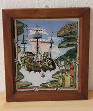 Hinterglasmalerei - Die Wunder des hl. Nikolaus - Kloster Sucevița in Rumänien
