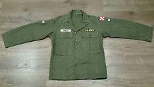 US ARMY HBT OG 107 SHIRT JACKET KOREA VIETNAM WAR 38R