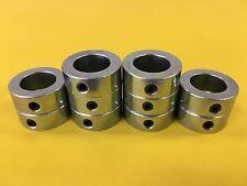 "(10pcs) 1"" Inch Solid Shaft Stop Collar - Zinc Plated - Set Screw - SC-100"
