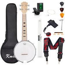 23 inch Banjo Ukulele Concert Banjolele With Bag Tuner Strap Picks Ruler Wrench
