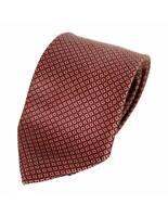 Pierre Balmain Tie Classical Vintage Silk Check Red Beige