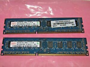 Hynix 4gb 2 X 2gb DDR3 PC3-8500 Memory for desktops