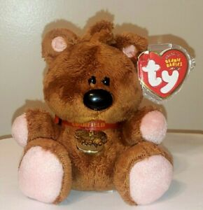 PR* Ty Beanie Baby - POOKY the Teddy Bear (5 Inch)(Garfield) MWMT (PLEASE READ)