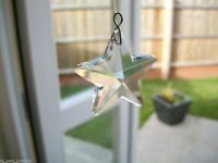 AUSTRIAN 20mm CRYSTAL CLEAR STAR, IDEAL AS A SUN CATCHER, FENG SHUI, OR PENDENT