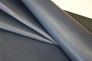 NAVY BLUE FLOATER LEATHER HIDE /3 oz - 3.5 oz (1.2 - 1.4mm)