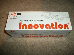 SEGA DREAMCAST SCART CABLE - INNOVATION - SUPER RGB + 2AV  (NEW & BOXED) 2m