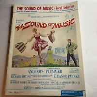 "Vtg ""The Sound Of Music"" Piano And Vocal Music Book 1959 Rodgers & Hammerstein"