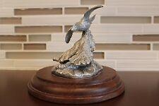 HANDMADE Vintage Gliding Bird Ornament (WOOD & Nickel)