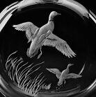 NEW in RED BOX STEUBEN glass MALLARD DECANTER HOUSTON eagle duck goose Macallan!