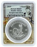 2019 South Africa 1oz Silver Krugerrand PCGS MS69 - Picture Frame