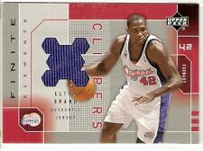 ELTON BRAND JERSEY 2002-03 UPPER DECK FINITE EB-J LOS ANGELES CLIPPERS BULLS