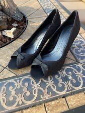 Phase Eight Brand New Size 7 Black Lace Peep Toe Heeled Evening Shoes