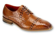 New Mens Steven Land Tan/Brown Woven Cap Toe Lace Leather Shoes Size 13