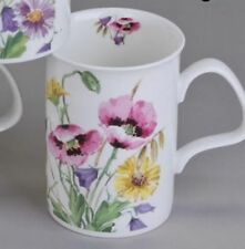 Roy Kirkham English Meadow pink Kaffeebecher Teetasse Henkelbecher 0,3 L