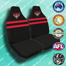 ESSENDON BOMBERS FRONT CAR SEAT COVERS OFFICIAL AFL AIRBAG COMPATIBLE