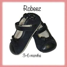 Robeez Baby Girl Shoes 3-6 Months Leather Maryjane Infant EUC