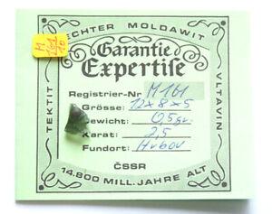 Moldavit aus Tschechien mit Garantie Expertise