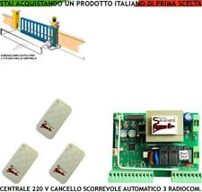 CANCELLO SCORREVOLE CENTRALE PER MOTORI 220 V 550 W CAME FADINI BFT 3 RADIOCOMAN