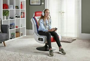 Refurbished X-Rocker Esports Pro Gaming Chair - Red/White.