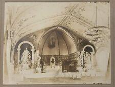 ANTIQUE AMERICAN CHURCH ELMHURST IL DUPAGE COUNTY ARTISTIC ALTER FIGURES PHOTO