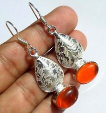 VERY GOOD JEWELRY CITRIN! GEMSTONE 925 STERLING SILVER OVERLAY EARRING !!