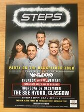STEPS 1 x 2017 PARTY ON THE DANCEFLOOR UK TOUR FLYER FOR GLASGOW (SIZE A5)