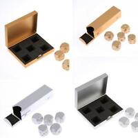 Portable Aluminium Metal Dice Playing Game With Square Bubble Bag + Box Set LD