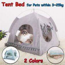 S-XL Summer Pet Tent Soft Cat Bed Kitten House Puppy Cushion Pads Pet Dog Kennel