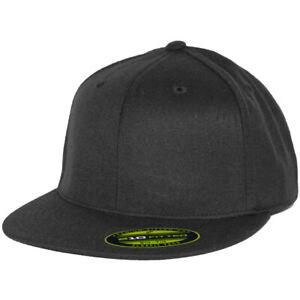 Flexfit 210 Fitted Flex Hat (Black) Men's Stretch High Crown Cap