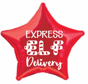 Express Elf Delivery- Vinyl Decal-perfect for foil, bobo, orbz, clearz