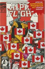 Alpha Flight #120 Bagged with Super Powers Registration Poster 1993 VF/NM