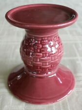 Longaberger~ Woven Traditions ~ Paprika Pillar Candle Holder #31454 ~ Euc