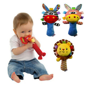 Musical Educational Cartoon Beds Model Baby Toy Toys Rattle Soft Plush Stuffed