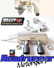 "Milltek Golf R MK6 Escape 3"" Carrera Turbo atrás atractivo & Gato no Válvula Negro"