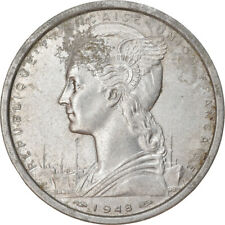[#778533] Coin, French West Africa, 2 Francs, 1948, VF(30-35), Aluminum, KM:4