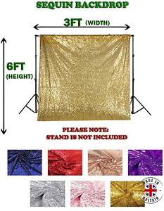 3FT x 6FT Sequin Backdrop Photoshoot Background Wedding Curtain Glitter Decor UK