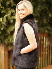 Stunning Balenciaga mink fur brown vest small med S M no tags