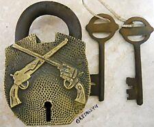 Pistols gun lock brass body padlock