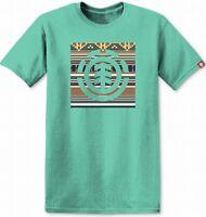 Element Mens T-Shirt Classic Light Green Size Medium M Graphic Tee $22- 259