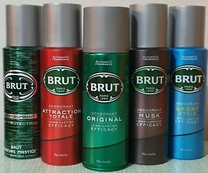 Brut Deodorant Long-Lasting EFFICACY Spray 200 ml, 3 or 6 cans