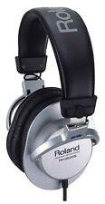 New Roland RH-200S Stereo Monitor Headphones Headband Silver Japan F/S