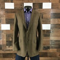 Mens Hickey Freeman 42L Beacon Sport Coat Wool Cashmere Blazer Suit Jacket Plaid