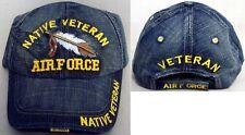 Native Pride Veteran Air Force  Baseball Caps Hats Embroidered (NpCap700AF +)