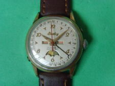 Vintage Swiss Breitling 17J Mechanical Manual moon phase Used Watch