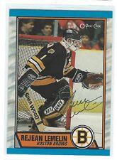 Rejean Lemelin Signed 1989/90 O-Pee-Chee Card #40