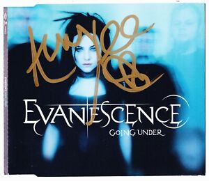 EVANESCENCE - GOING UNDER -  3 TRACK CD SINGLE WITH VIDEO - 2003 - AUTOGRAPHED