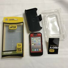 NIB Genuine Otter Box RED w BLACK  Defender for iPHONE 4 & 4s Never Used