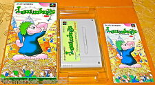 Lemmings SUPER NES Snes Nintendo FAMICOM SYSTEM GAME JAPAN COMPLETE BOX + BOOK